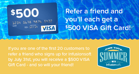 Refer a friend and you'll each get a $500 VISA Gift Card!